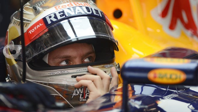 Sebastian Vettel of Germany has a 13-point lead heading into the Abu Dhabi Grand Prix.