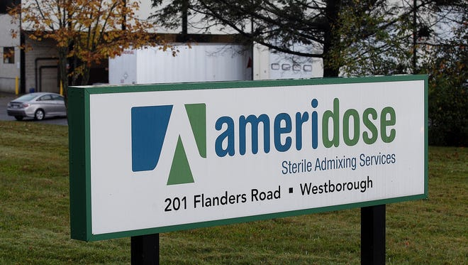 The headquarters for Ameridose Sterile Admixing Services, a pharmacy connected to the New England Compounding Center tied to a deadly meningitis outbreak, is shown.
