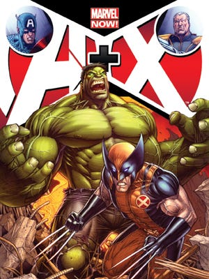 """Hulk and Wolverine team up against their future selves in the first issue of """"A+X."""""""