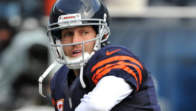 The Chicago Bears'  Jay Cutler has the NFL's best  fourth-quarter passer rating entering Week 9.