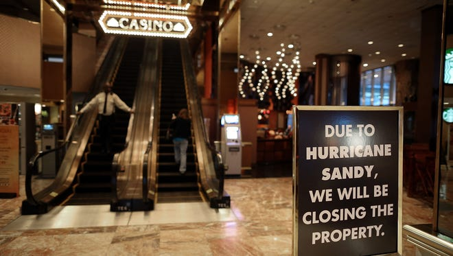 Atlantic City casinos emerge from Sandy mostly unharmed: This marks the fourth time in the 34-year history of legalized gambling in Atlantic City that the casinos were ordered closed. The shutdown is costing the casinos a collective $5 million a day in lost revenue.