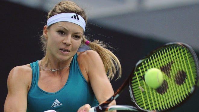 Maria Kirilenko of Russia, shown here Oct. 18, won Wednesday in Sofia, Bulgaria.