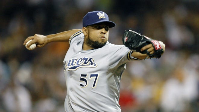Francisco Rodriguez appeared in a career-high 78 games for the Brewers in 2012.