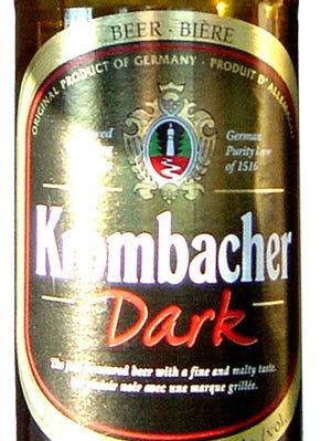 Krombacher Dark beer from Krombacher Brauerei in Kreutzal, Germany, has an alcohol content of 4.3%.