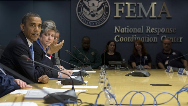 A meeting at the Federal Emergency Management Agency in Washington on Wednesday.