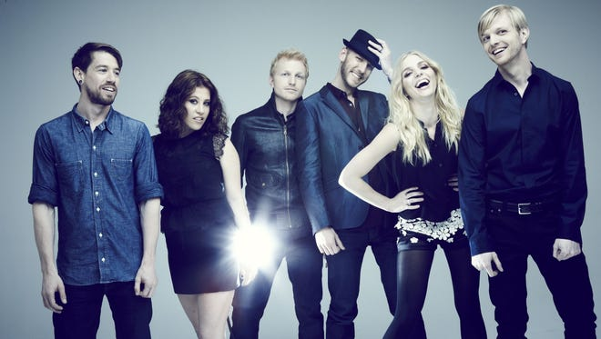 North Carolina folk-rock group Delta Rae (from left): Grant Emerson, Elizabeth Hopkins, Ian Holljes, Mike McKee, Brittany Holljes and Eric Holljes