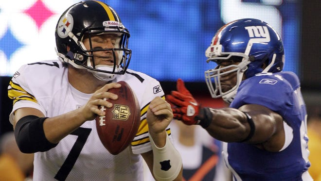 Steelers QB Ben Roethlisberger (7) has a 1-1 record against the Giants.