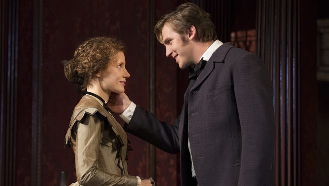 Jessica Chastain and Dan Stevens star in 'The Heiress,' now playing on Broadway.