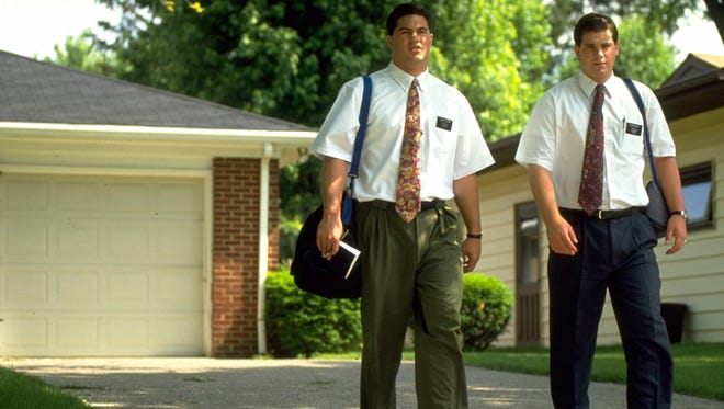 More than 50,000 missionaries serve The Church of Jesus Christ of Latter-day Saints for two years spreading the word of their faith.  The h is photo of two young missionaries is from the 2007 PBS program 'The Mormons.'
