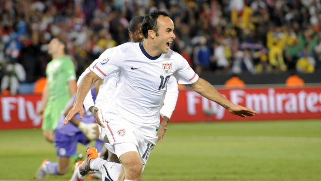 Landon Donovan's goal against Algeria gave the USA a win against Algeria in the 2010 World Cup.