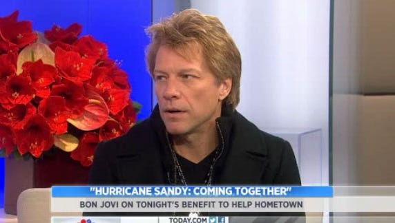 Jon Bon Jovi talks to 'Today' about the NBC concert to help raise funds for Hurricane Sandy relief.
