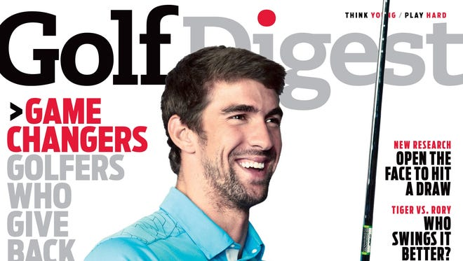 Michael Phelps appears on the December cover of Golf Digest. The Olympic champion recently took up the game