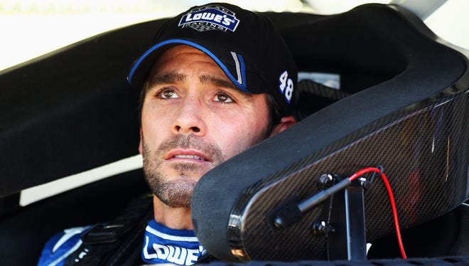 Jimmie Johnson turned a lap at 191.076 mph to claim the pole for Sunday's race at Texas Motor Speedway.