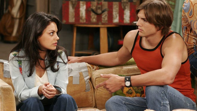 Mila Kunis and Ashton Kutcher starred together on 'That '70s Show' as an on-off couple.