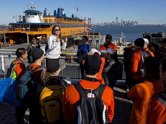 11/4/2012 Marathoners board ferry to aid Sandy
