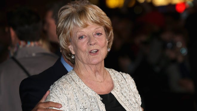 Maggie Smith attends the 'Quartet' premiere during the 56th BFI London Film Festival at the Odeon Leicester Square in October.