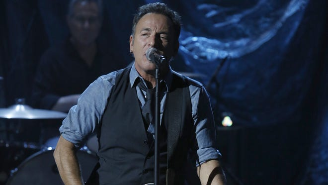 Bruce Springsteen participates in NBC Universal's 'Hurricane Sandy: Coming Together Relief Benefit.'
