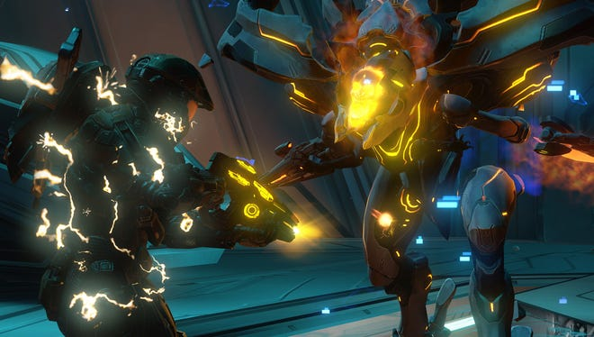 A scene from the Campaign for 'Halo 4.'
