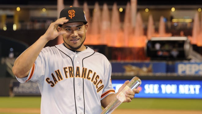 San Francisco Giants outfielder Melky Cabrera was named the All-Star Game MVP in July.