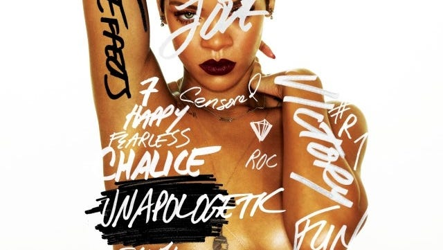 Rihanna's album is entitled 'Unapologetic.'