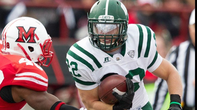 Ohio's Beau Blankenship is third in the MAC and in ninth in the nation in rushing at 121.9 yards a game.