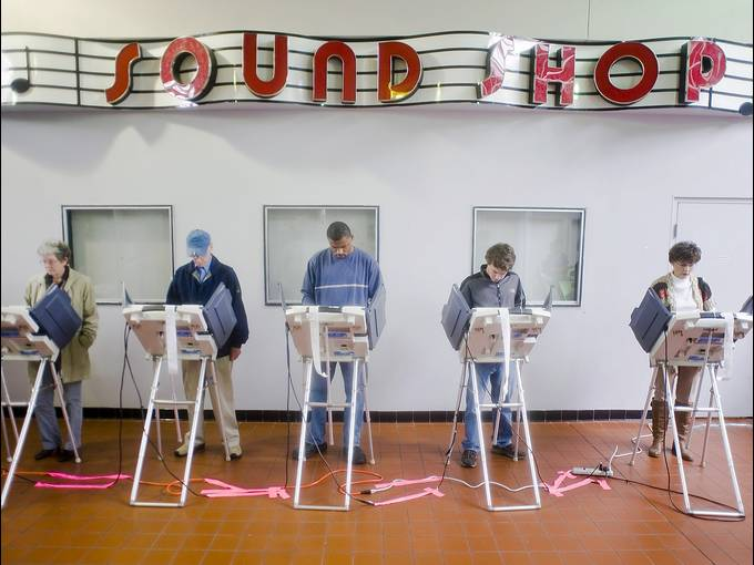 Voters Still Line Up As Tight Presidential Race Closes
