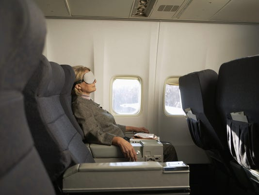 Eye mask airplane business traveler