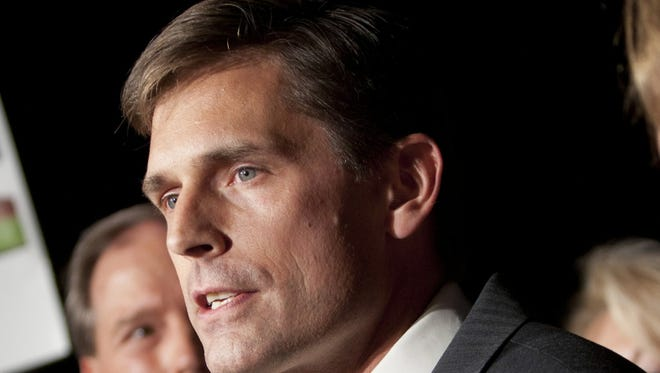 Martin Heinrich speaks to supporters on Tuesday in Albuquerque.