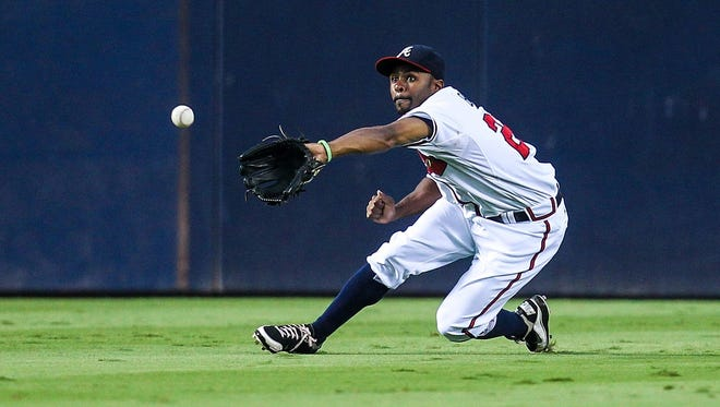 Michael Bourn, shown Aug. 13, has averaged 51 steals over the past five seasons and owns two Gold Glove Awards.