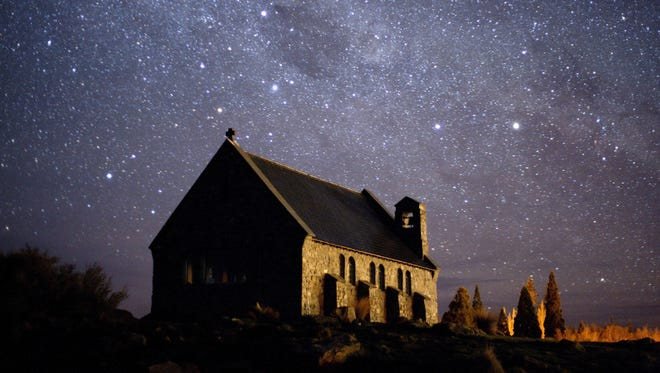 The Church of the Good Shepherd on New Zealand's South Island is surrounded by starlight, thanks in part to night-sky preservation efforts at the Aoraki MacKenzie International Dark Sky Reserve.