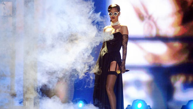 Rihanna is positively smoking as she performs at the Victoria's Secret Fashion Show on  Nov. 7 in New York. The show will be broadcast on Dec. 4 on CBS.