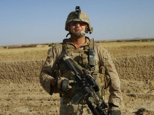 sgt cliff wooldridge a member of 3rd battalion 7th marines graduated from
