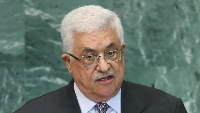 Mahmoud Abbas, president of the Palestinian Authority, addresses the United Nations General Assembly on Sept. 27 in New York City.