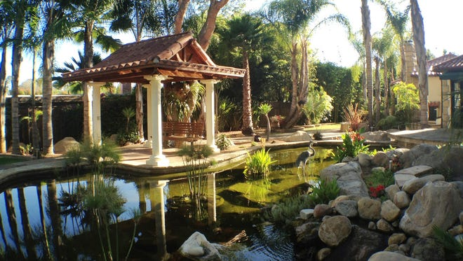 This estate in pricey Santa Barbara, Calif. includes a large koi pond and gazebo.