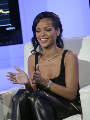 Rihanna sits down with Andy Cohen for a Facebook Live chat Nov. 8 in New York.