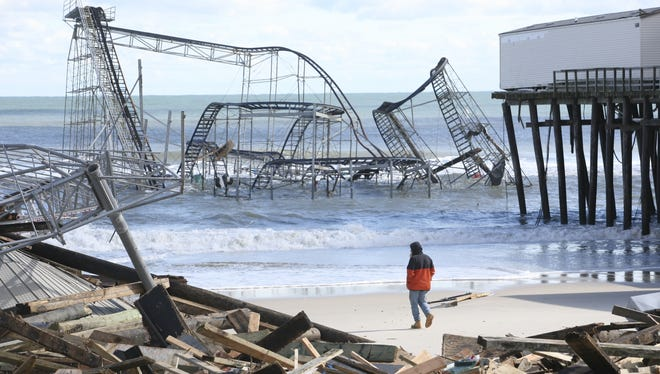 Early news about the damage near Casino Pier in Seaside Heights, N.J., came by way of Facebook.
