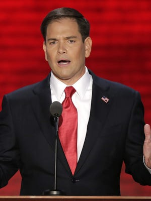 Sen. Marco Rubio, R-Fla., spoke at the GOP convention in Tampa.