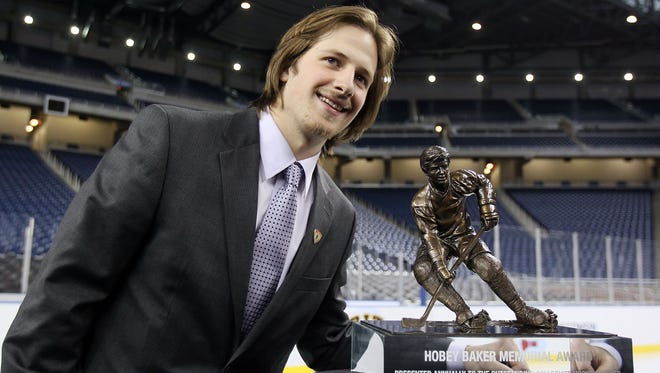 Blake Geoffrion won the Hobey Baker Award with Wisconsin in 2010.