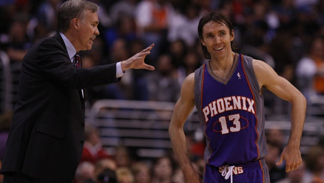 In Los Angeles, D'Antoni will be reunited with point guard Steve Nash. D'Antoni coached Nash for four seasons with the Phoenix Suns.