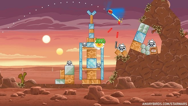 A scene from 'Angry Birds Star Wars.'