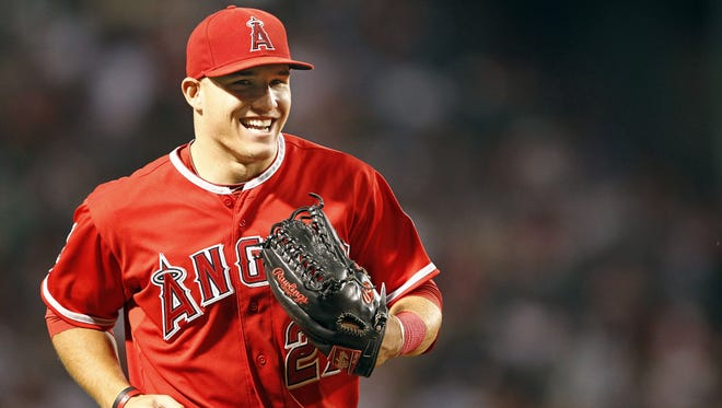 Mike Trout was a sabermetrician's dream, compiling a major league-high 10.7 Wins Above Replacement (WAR), a stat that aims to measure the value of a player's overall contributions.