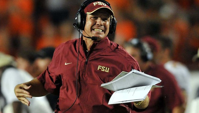 Florida State Seminoles coach Jimbo Fisher is not happy that the one-loss Seminoles are 10th in the BCS rankings, behind six SEC teams, three of which have two losses.