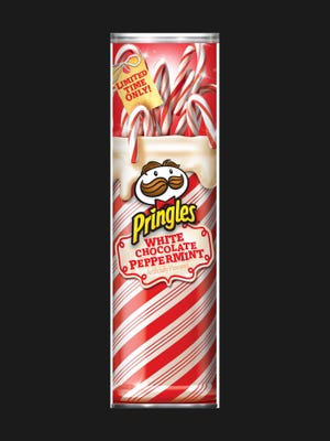 Pringles White Chocolate Peppermint is one of two limited edition flavors available during the 2012 holiday season. The classic holiday blend of cool peppermint and smooth white chocolate flavors deliver a wondrous crisp combination.