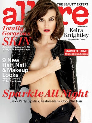 Keira Knightley poses for the December issue of 'Allure' mag, out Nov. 20.