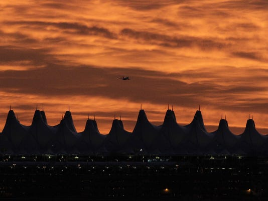 Denver International Airport sunrise
