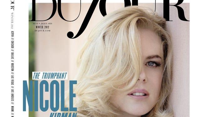 Nicole Kidman on cover of 'DuJour' Winter issue.