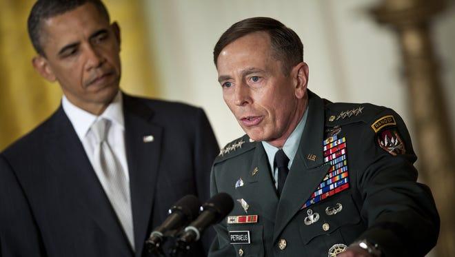 President Obama nominates Gen. David Petraeus for CIA director on April 28, 2011, at the White House.