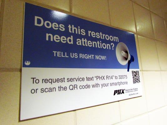 Phoenix airport restroom