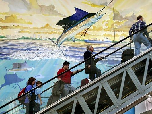Fort Lauderdale airport mural