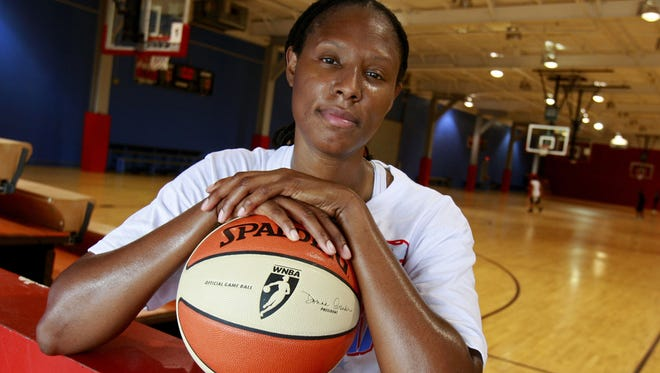 Chamique Holdsclaw, in a photo from 2009, said in here 2012 biography that she had suffered from depression.